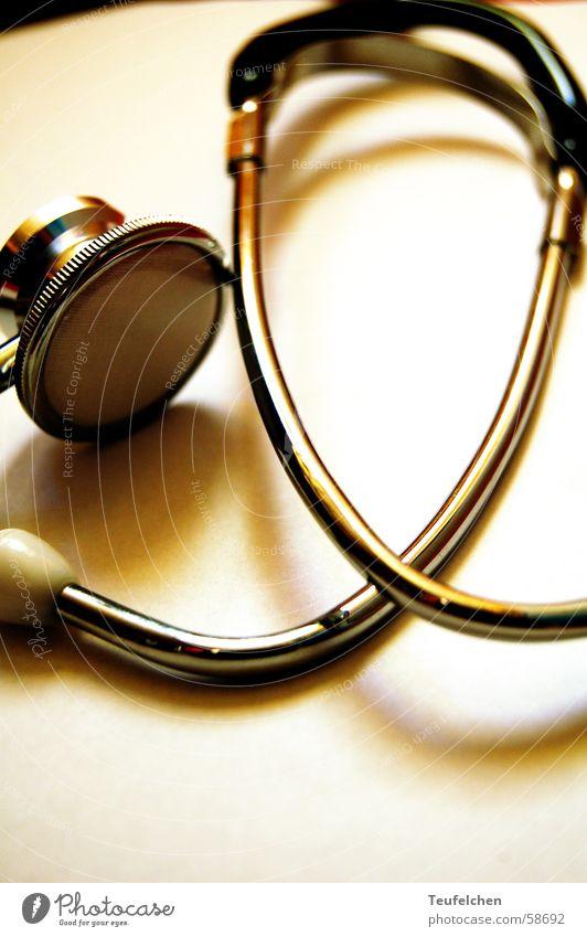 Stethoskop 1 Handwerk Hebamme schwanger hören Schlauch Ohrmuschel Geburtshilfe herztöne Metall