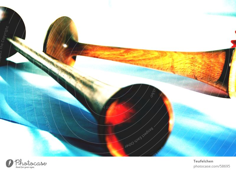 Handwerkszeug einer Hebamme Holz Geburt Material Stethoskop Geburtshilfe