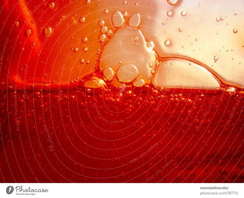 ... etwas Rot abstrakt rund Kreis Oval Inhalt Konzentration Schaum Flüssigkeit Blut Körperflüssigkeit Duschgel rot Luft durchsichtig Sauberkeit Reinigen Gel zäh