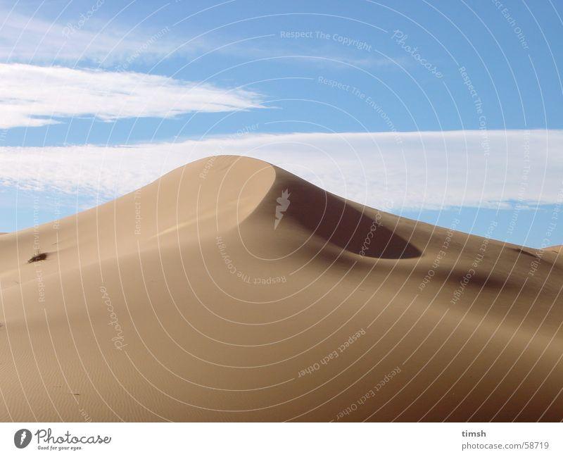 Dune Marokko Sand Stranddüne Sahara desert landscape