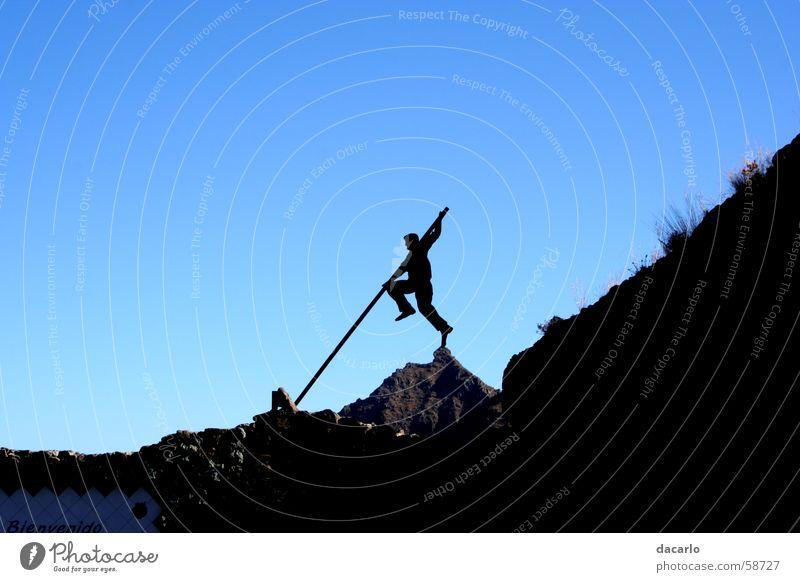 Gipfeltreter Himmel Berge u. Gebirge Leichtathletik Stock Hochsprung Stabhochsprung