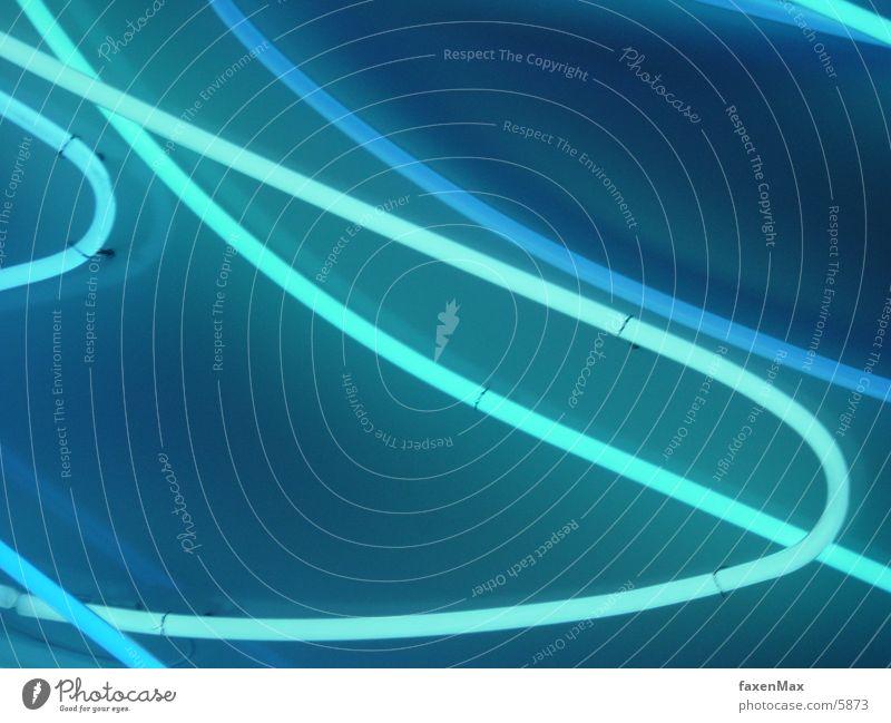 elektrowürmchen Neonlicht gekrümmt hell-blau Pastellton Zickzack hellgrün