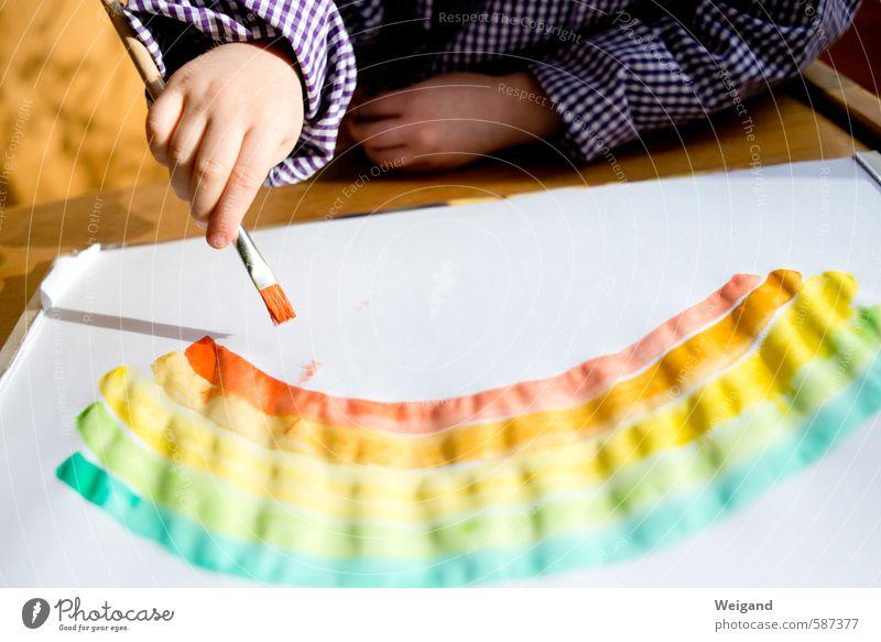Den Bogen raus haben Kinderspiel Kindererziehung Bildung Kindergarten Schule lernen Klassenraum Schulkind Schüler Kleinkind Hand 1 Mensch 1-3 Jahre 3-8 Jahre