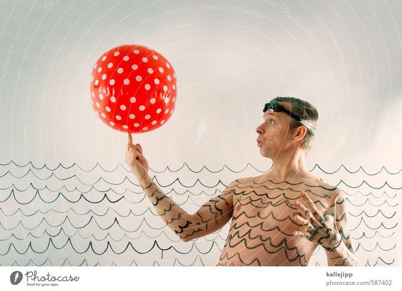 wassermann Mensch Mann Wasser Erwachsene Graffiti Sport Spielen Lifestyle Schwimmen & Baden Kopf maskulin Freizeit & Hobby Körper Wellen Haut