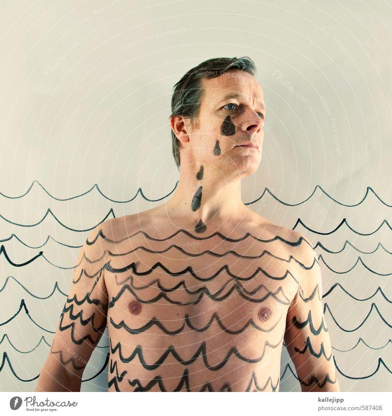 heulsuse Mensch Mann Wasser Meer Gesicht Erwachsene Graffiti Traurigkeit Tod Haare & Frisuren Kopf Angst maskulin Körper Haut Grafik u. Illustration