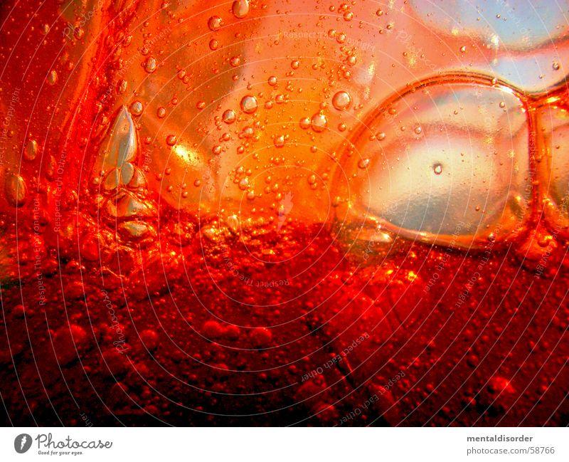 ich geh duschen abstrakt rund Kreis Oval Inhalt Konzentration Schaum Flüssigkeit Blut Körperflüssigkeit Duschgel rot Luft durchsichtig Sauberkeit Reinigen Gel