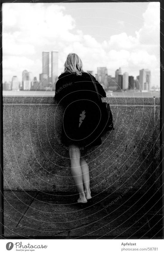 New York Frau New York City Stadt Landschaft