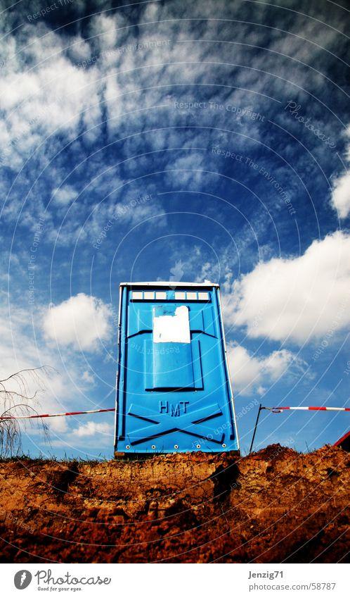 Sitzung. Himmel Wolken sitzen Baustelle Toilette Ladengeschäft Miettoilette