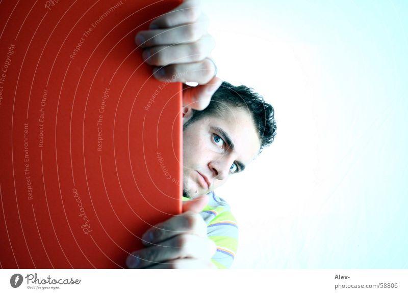 Gibts was? Mann Kerl Jugendliche schön Streifen Bekleidung Dinge Textilien Information Traumtyp Hand Götter maskulin boy Konzepte & Themen textiel face