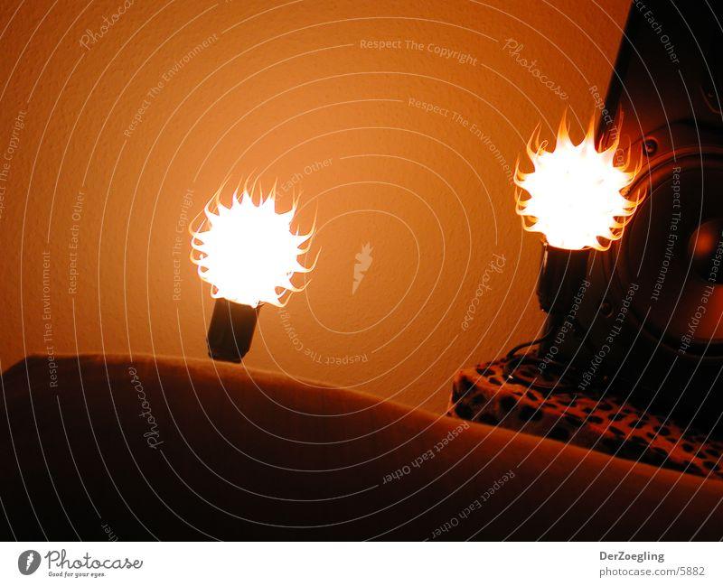 supervision Licht Noppe Sonnenuntergang Lampe Lichtspiel Fototechnik orange Lichterscheinung schummer