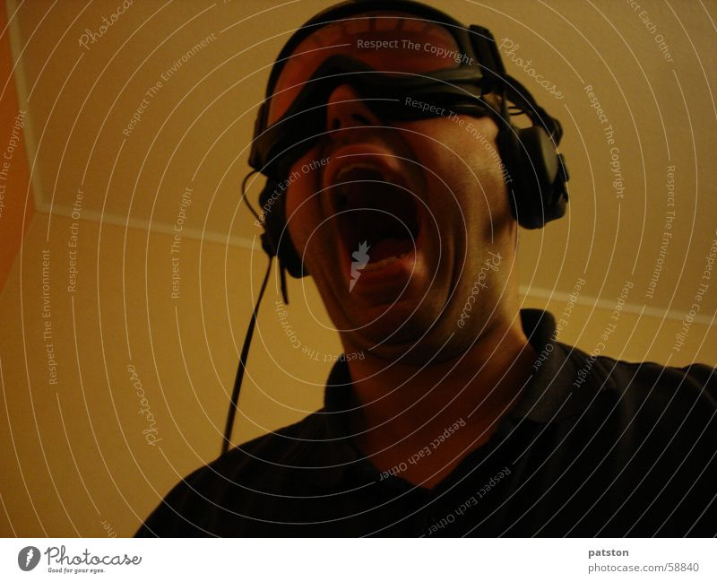 Krasser Ton Brille fantastisch Diskjockey Kopfhörer