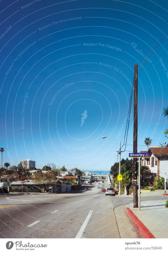 Ocean Park Blvd. Himmel Straße USA Bürgersteig Kalifornien Los Angeles