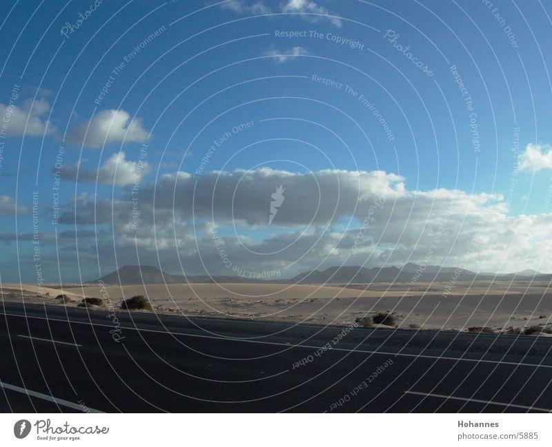 Dünen auf Fuerte Sommer Ferien & Urlaub & Reisen Stranddüne Fuerteventura Kanaren