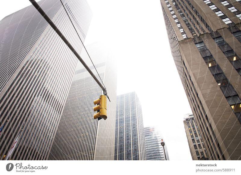 Corporate Buildings New York Stadt Gebäude Architektur Stein Metall Arbeit & Erwerbstätigkeit Business Kraft Büro Hochhaus Erfolg Glas Höhenangst Bankgebäude