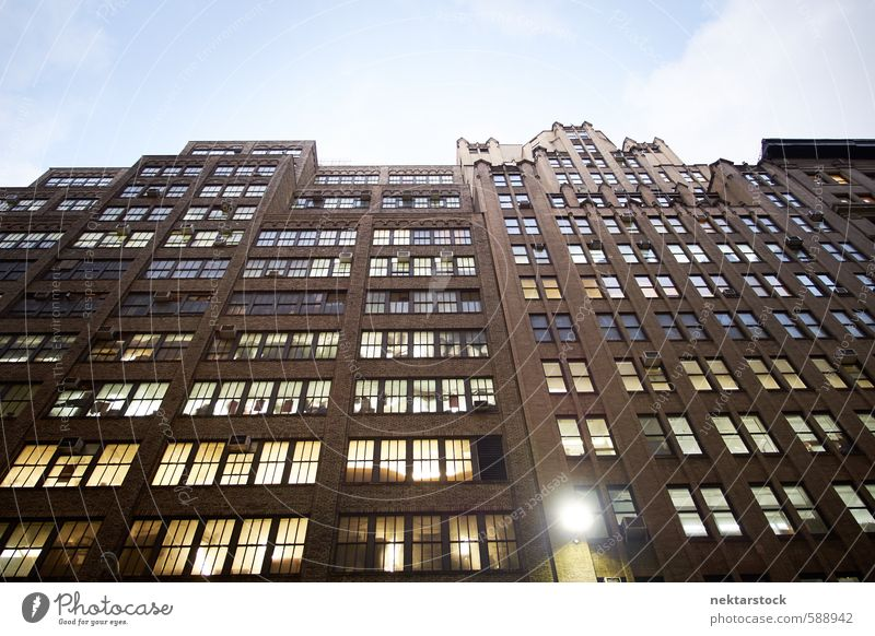 Kreative Büros in Manhattan, New York Stadt Fenster Wand Gebäude Mauer Architektur Stein Arbeit & Erwerbstätigkeit Fassade Hochhaus Glas Schönes Wetter