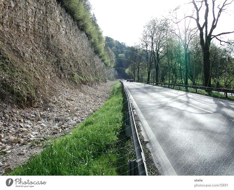 Strasse nach Tuttlingen Steinbruch Verkehr Straße