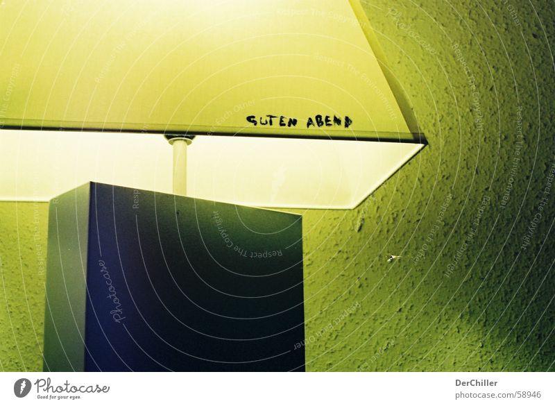guten abend Lampe Wand grün-gelb