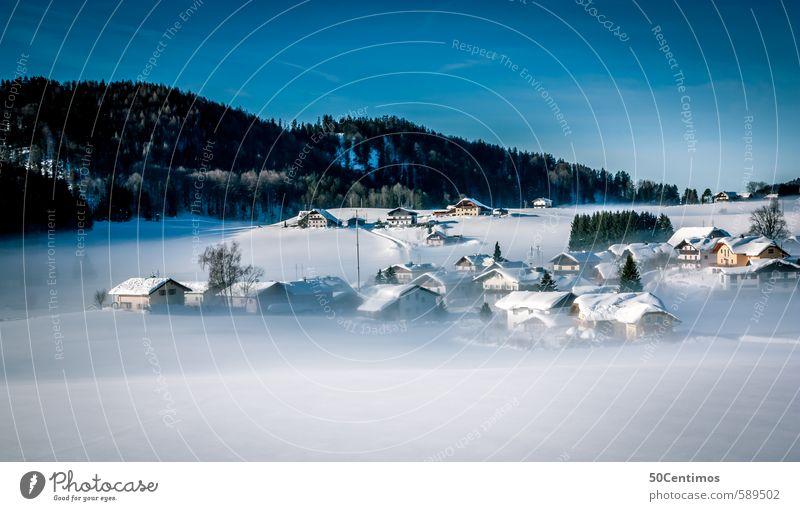 Winterlandschaft in Faistenau Ferien & Urlaub & Reisen Tourismus Ferne Freiheit Schnee Winterurlaub Berge u. Gebirge wandern Umwelt Natur Landschaft Hügel