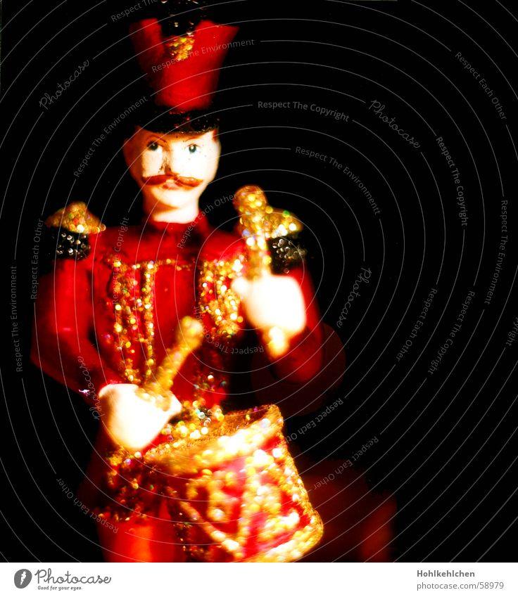 Links 2 3 4 Weihnachten & Advent rot schwarz Musik glänzend Dekoration & Verzierung verschönern schlagen Trommel festlich Uniform Antiquität