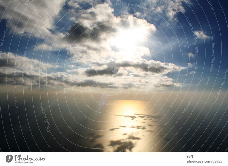 Der Sonne entgegen Himmel Meer Sommer Wolken