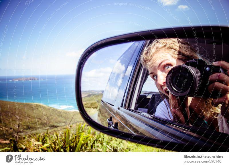 neuseeland- roadtrip Frau Himmel Natur Jugendliche Ferien & Urlaub & Reisen Sommer Meer Junge Frau Landschaft Freude Strand Ferne Erwachsene Leben feminin