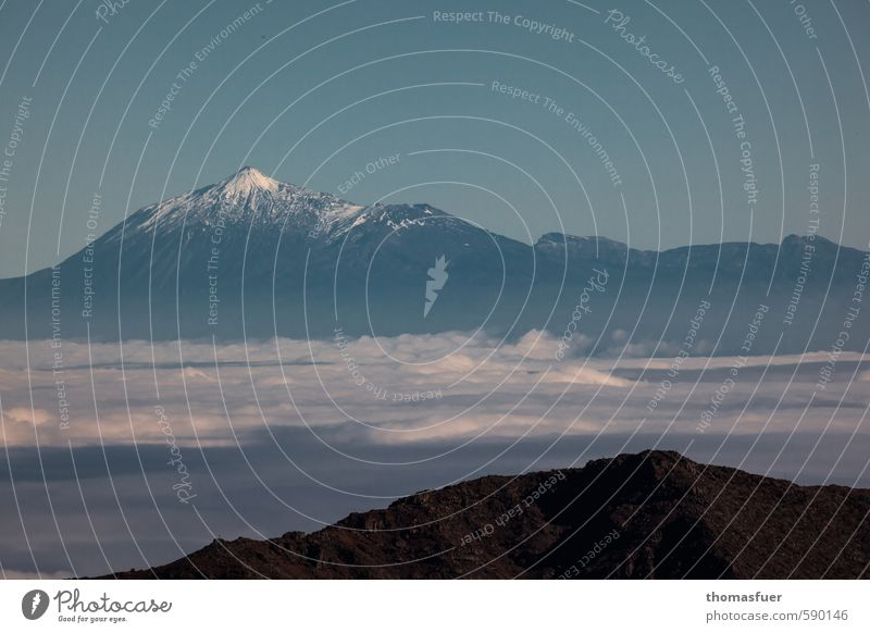 zwei Inseln Himmel Natur Ferien & Urlaub & Reisen blau Wasser Sommer Wolken Ferne Berge u. Gebirge Schnee Freiheit Erde braun Horizont Luft