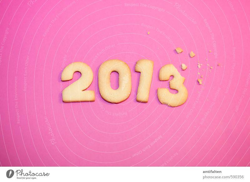 Angeknabbert II Weihnachten & Advent Essen 1 Feste & Feiern außergewöhnlich Lebensmittel rosa liegen 2 Dekoration & Verzierung Geburtstag Fröhlichkeit Ernährung