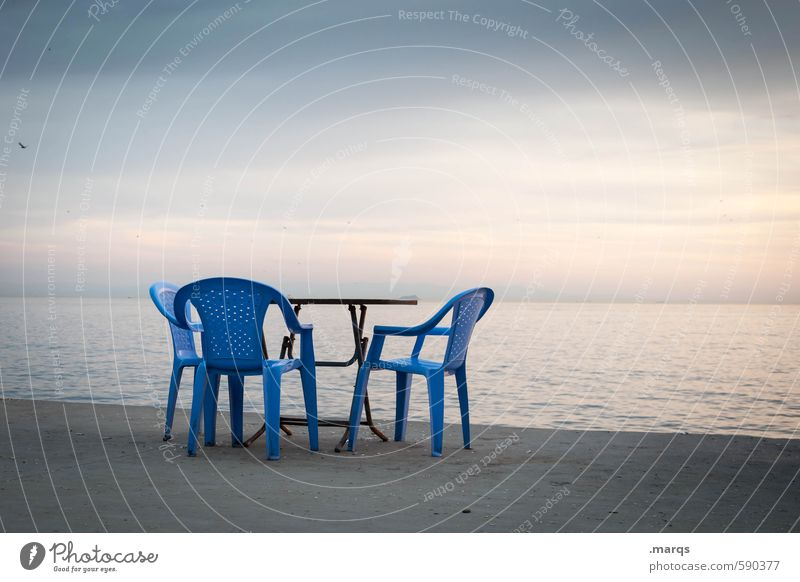 Erstes 2014 | Stuhlkreis Himmel Meer Erholung Umwelt Küste außergewöhnlich Horizont Stimmung Lifestyle Tisch Stuhl Türkei Istanbul