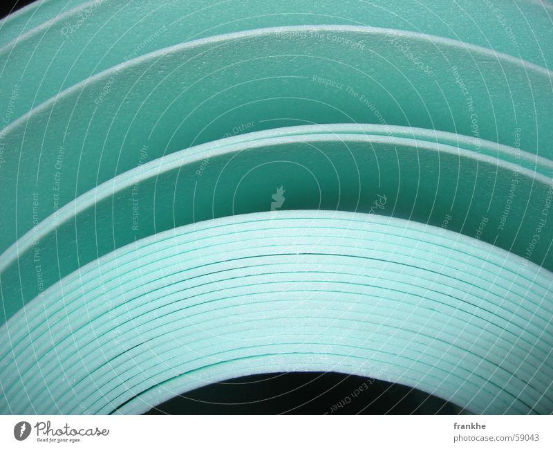 green mile grün Rolle Papier entfalten hellgrün Unendlichkeit schwarz Umbauen Raum Loch Bodenbelag