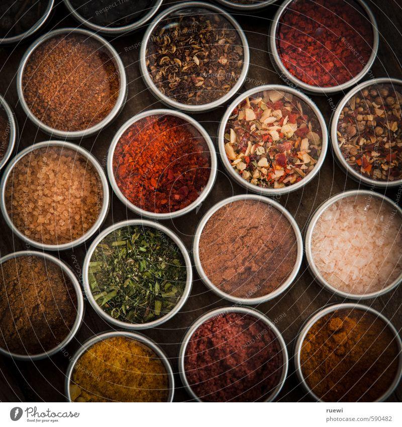 Gewürzmischung Natur gelb Speise Lebensmittel Ernährung Kochen & Garen & Backen rund Kräuter & Gewürze Scharfer Geschmack trocken lecker durcheinander