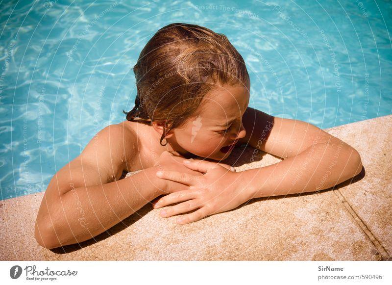 252 [mad hot day] Lifestyle Schwimmen & Baden Freizeit & Hobby Ferien & Urlaub & Reisen Sommer Sonne Junge 1 Mensch 8-13 Jahre Kind Kindheit Wasser brünett