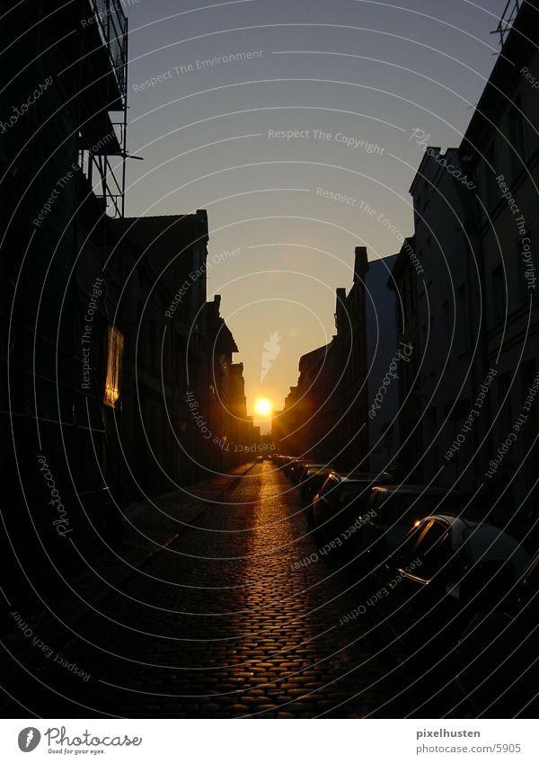 safari_sunset Sonne Stadt leer Straßenflucht