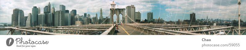 New York City Stadt Sommer Haus Hochhaus Brücke USA Brooklyn Brooklyn Bridge