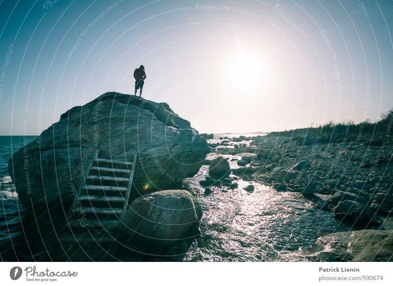 Schöne Aussichten Wellness Leben harmonisch Wohlgefühl Zufriedenheit Sinnesorgane Erholung ruhig Meditation Mensch maskulin Mann Erwachsene Körper 1 Umwelt