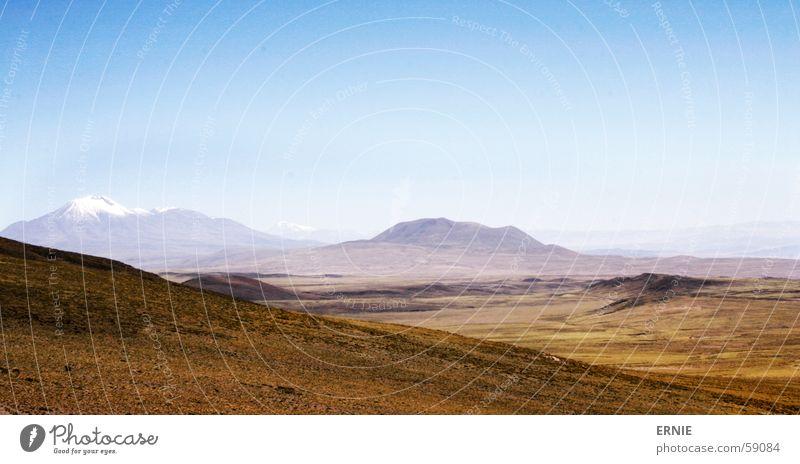 Chilenische Weiten Natur Himmel blau Ferien & Urlaub & Reisen Ferne Schnee Berge u. Gebirge Grad Celsius Südamerika Ausland