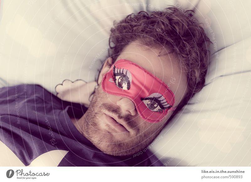 Zweites 2014 | auf ein sexy Jahr! Jugendliche Mann schön Erholung 18-30 Jahre Junger Mann Gesicht Erwachsene Auge Leben Kopf träumen maskulin schlafen T-Shirt