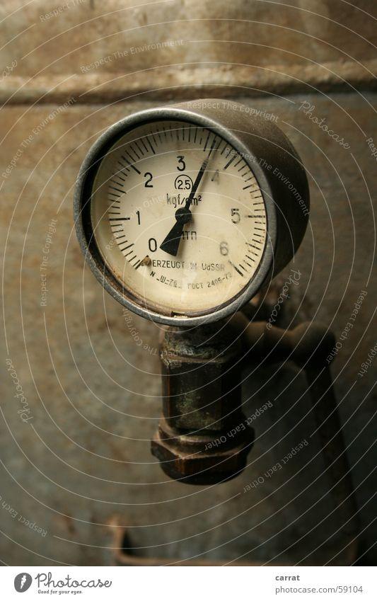 Druckfrisch! alt Stil Metall Sicherheit Kontrolle silber Russland Anzeige Musikinstrument Uhr Nadel altehrwürdig rustikal Sowjetunion Hebel