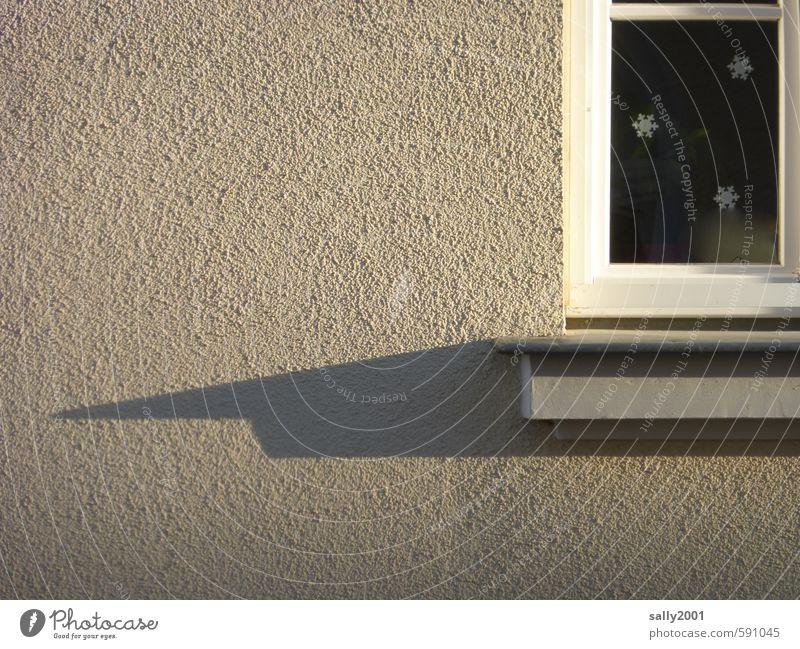 zackig... Häusliches Leben Wohnung Haus Dekoration & Verzierung Weihnachten & Advent Mauer Wand Fassade Fenster Fensterbrett Stern (Symbol) ästhetisch eckig