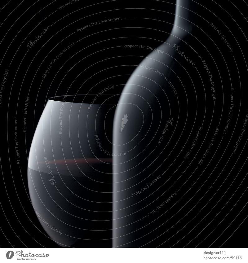 Rotwein Weinglas Weinflasche schwarz Unschärfe Licht Silhouette dunkel Zigarre Cabernet Sauvignon Merlot Cabernet Franc Pinot Noir Dornfelder Lemberger