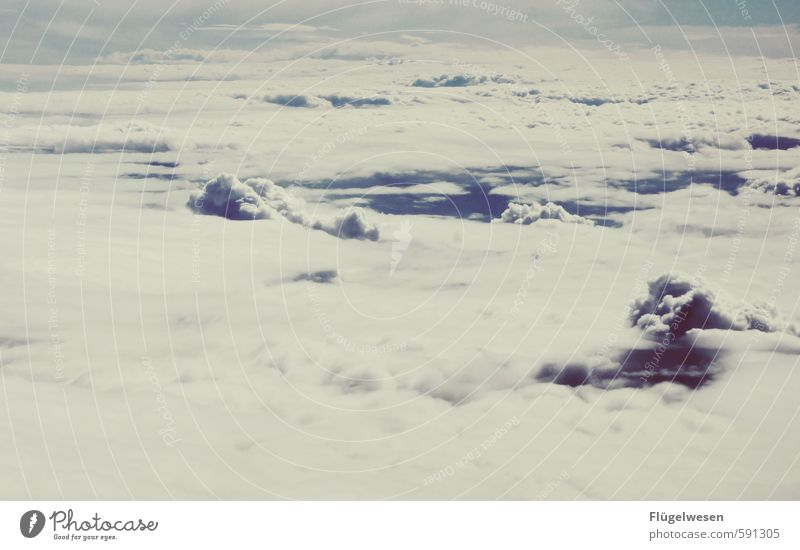 Alles nur geCloud Himmel Natur Ferien & Urlaub & Reisen Landschaft Wolken Ferne Umwelt Freiheit Horizont fliegen Wetter Klima Tourismus Luftverkehr Ausflug