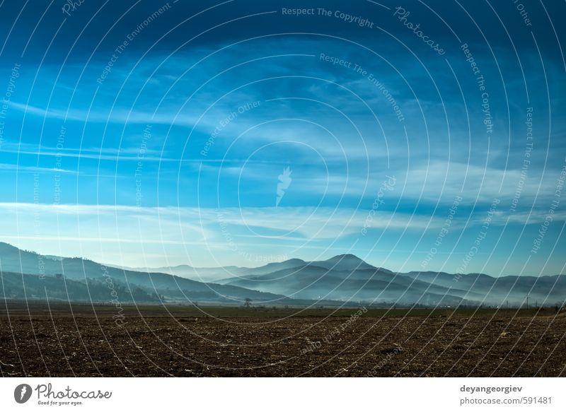 Nebel im Berg schön Ferien & Urlaub & Reisen Tourismus Berge u. Gebirge Umwelt Natur Landschaft Himmel Wolken Herbst Baum Wald Urwald Hügel Fluggerät blau weiß