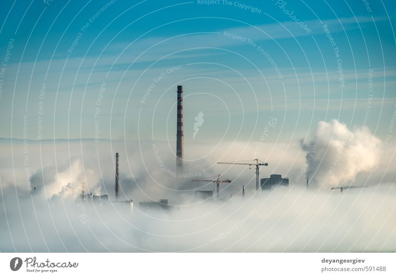 Himmel Natur blau Stadt weiß Pflanze Wolken Umwelt Luft dreckig Nebel Klima Energie Technik & Technologie Industrie Fabrik