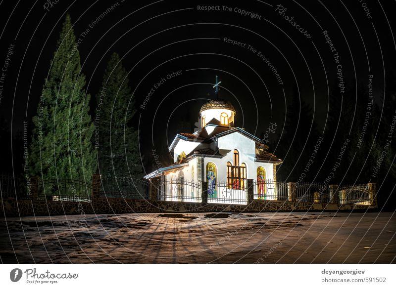 Himmel blau alt grün weiß Sommer Landschaft Gebäude Architektur Religion & Glaube gold Europa Kirche historisch Denkmal Tradition