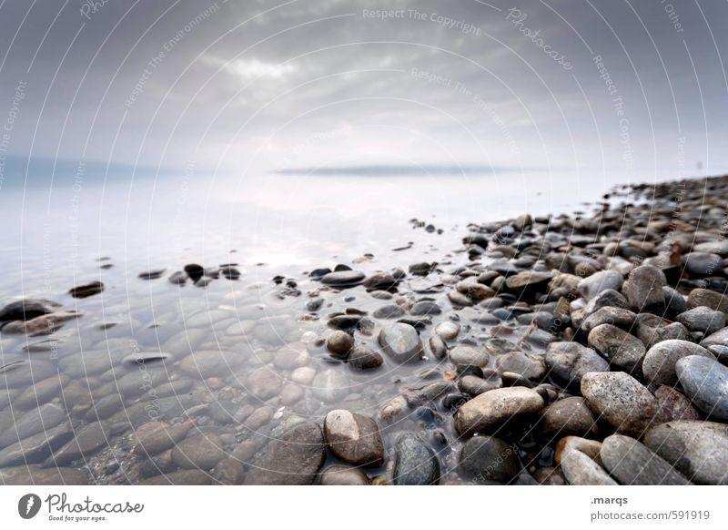 Kiesel Himmel Natur schön Wasser Erholung Landschaft Wolken Ferne Umwelt See Horizont Stimmung Klima ästhetisch Ausflug Zukunft