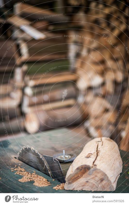 Sägewerk Holz braun Fabrik silber Holzstapel Holzstruktur Sägeblatt