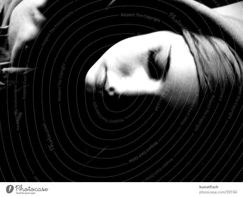 Me, myself and I Gesicht dunkel Denken hell Müdigkeit Langeweile Ergebnis Haarband Selbstversuch Null Bock