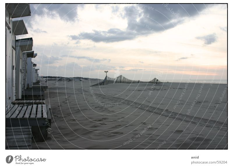 |___  la plage ___ Strand Frankreich Calais Meer Sonnenuntergang Ärmelkanal Dover England Sand Hütte strandhütte Nordsee