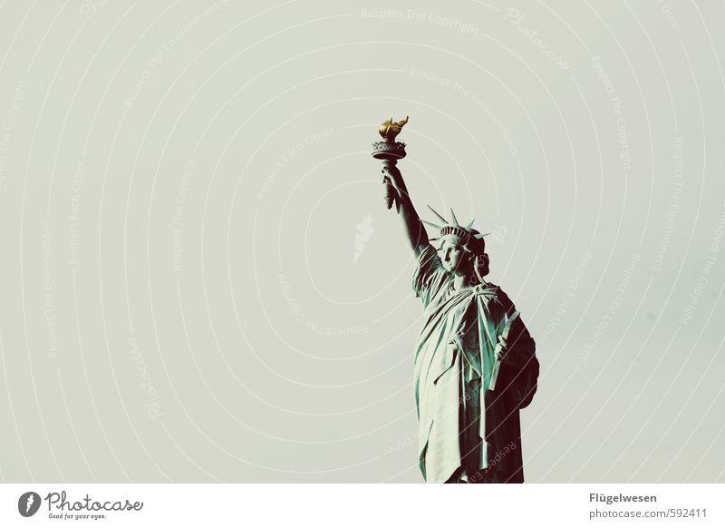 La Liberté éclairant le monde Ferien & Urlaub & Reisen Ferne Freiheit Tourismus Ausflug Abenteuer Skyline Wahrzeichen Amerika Sehenswürdigkeit Sightseeing