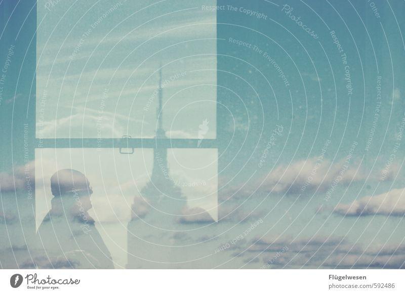 Empire State Schatten Himmel Ferien & Urlaub & Reisen Mann Stadt Erholung Wolken Ferne Autofenster Freiheit Hochhaus Tourismus Ausflug Abenteuer Skyline