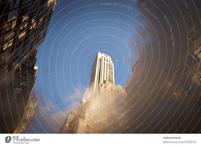 Corporate Buildings New York blau Stadt Sommer Architektur braun Kraft Büro Design Erfolg Tourismus Wachstum Macht Abenteuer Geldinstitut Duft Stadtzentrum
